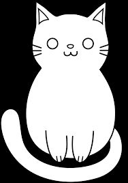 Image result for silly cat clipart black and white Black cat drawing Kitten drawing Cat outline