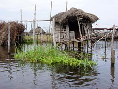 Ganvie, Benin - Ganvie is a lake village in Benin, lying in Lake Nokoué, near Cotonou. With a population of around 20,000 people, it is probably the largest lake village in Africa and as such is very popular with tourists.