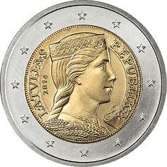 2 Euro Lettonia 2014