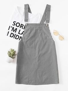 SheIn offers Detachable Strap Gingham Pinafore Dress & more to fit your fashionable needs. Girls Fashion Clothes, Teen Fashion Outfits, Girl Fashion, Indie Fashion, Fashion Styles, Fashion Ideas, Cute Casual Outfits, Summer Outfits, Cute Dresses