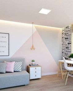 Bedroom Wall Designs, Bedroom Decor, Wall Decor, Wall Colors, House Colors, Room Wall Painting, Accent Walls In Living Room, Paint Colors For Home, My Room