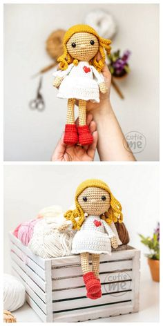 Amigurumi Rose Doll Free Pattern – Amigurumi Free Patterns And Tutorials Amigurumi Rose Doll Free Pattern – Kostenlose Amigurumi-Anleitungen und Anleitungen Crochet Mug Cozy, Cute Crochet, Crochet Toys, Crochet Dolls Free Patterns, Amigurumi Patterns, Doll Patterns, Crochet Doll Tutorial, Beginner Crochet Projects, Amigurumi Doll