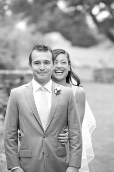 Awesome 1st look picture! - Elihu Island wedding from Carla Ten Eyck Photography