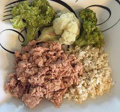 Legumes + arroz + atum