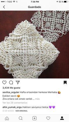 Crochet Home, Crochet Motif, Love Crochet, Crochet Edging Patterns, Crochet Squares, Crochet Granny, Filet Crochet, Crochet Doilies, Crochet Crafts