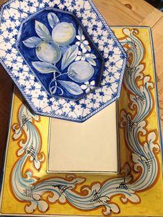 Sicilian ceramics at Conti Tuscany Flavours