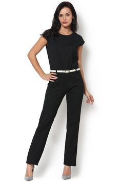 0438c872f10  workjumpsuit  vipazza  Sonya - Black Slim Fit Jumpsuit