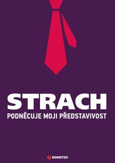 Motivační plakát Strach (Česky)