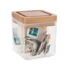Canister with Bamboo Lid 1L