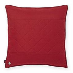 Tommy Hilfiger Prep Solid Decorative Cotton Throw Pillow Color: Nantucket Red