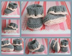The Createry Shop: Easy Baby Booties - Sweet Eyelet Booties Knitting Pattern