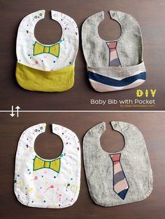{DIY} BABY BIB WITH POCKET