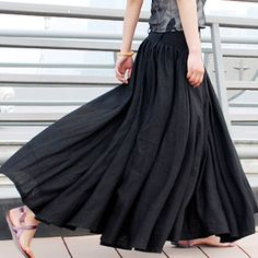 Plus Size Maxi Skirt Chiffon Silk Skirts Beautiful Bow Tie Green ...