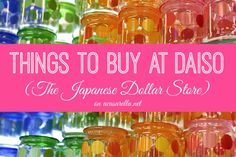 If you are a crafter, baker, organizer, etc., you must check out this post on shopping at DAISO.  It's a great (and inexpensive) source for supplies.