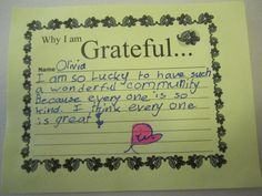 a request for gratitude after an adjustment....