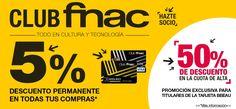 5% dto permanente en compras y 50% dto cuota acceso socias Club FNAC ¡Exclusivo en BBEAU! https://www.bbeau.es/producto/fnac/