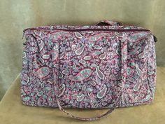 U.S. Polo Assn. duffel bag paisley print travel tote pink travel gym luggage #PINK #DuffleGymBag
