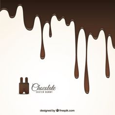 Melted chocolate background for easter Free Vector Chocolate Bowls, Chocolate Drip, Chocolate Shavings, Melting Chocolate, White Chocolate, Chocolate Lovers, Menu Illustration, Food Illustrations, Fondue