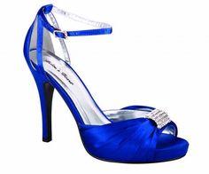 Stunning blue high heel