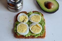 Toast with Egg and Avocado: Here's an easy recipe that gives you all your macros in one – carbs, protein and healthy fat. Avocado replaces butter for your spread. Add some hardboiled eggs, salt and pepper and your morning toast just got even better.