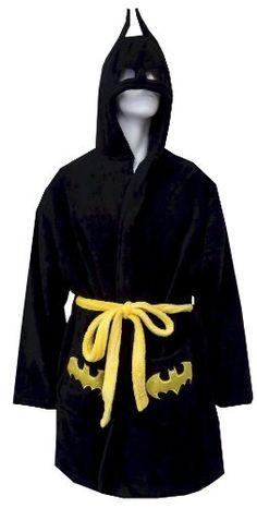 Amazon.com: Batman / Batgirl Logo Short Plush Robe: Clothing