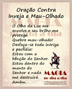 Magia no Dia a Dia: Oração Contra Inveja e Mau-Olhado Mr Magoo, Jesus Prayer, Zen, Book Of Shadows, Reiki, Prayers, Religion, Stress, Mindfulness