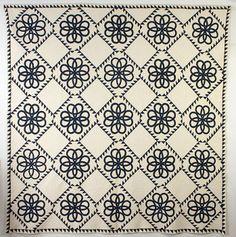 Celtic Knots Quilt: Circa 1870; Pennsylvania.  Stella Rubin Antiques