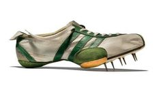 W takich szpilkach biegała Wilma Rudolph. Wilma Rudolph, Flo Jo, Running Spikes, Modern Games, Sports Footwear, Different Sports, Rubber Shoes, Adidas