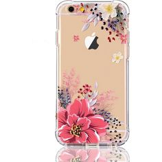 iPhone 6/6S Case with flowers, LUOLNH Slim Shockproof Clear Floral... (530 RUB) ❤ liked on Polyvore featuring accessories and tech accessories