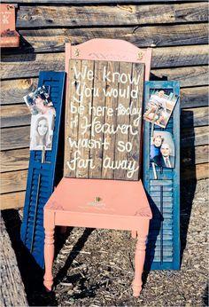 memorial display @weddingchicks