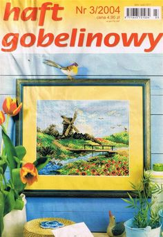 (1) Gallery.ru / Фото #1 - 2004 03 - tymannost Cross Stitch Magazines, Finding Yourself, Frame, Projects, Painting, Frames, Journals, Cross Stitch, Dots