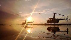 Wet R44s. Bristow Academy.Picture Niek Nijsen