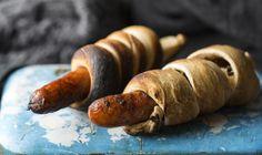 Pinnebrød Scandinavian Kitchen, Seasonal Food, Sausage, Sandwiches, Homemade, Baking, Recipes, Burgers, Wraps
