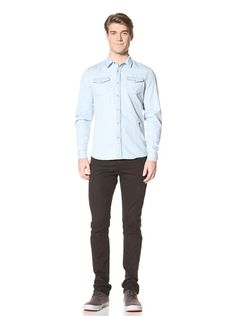 68% OFF Religion Men\'s Exit Woven Shirt (Ice Washed)