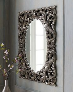 Silver Baroque Mirror - Horchow  From horchow.com