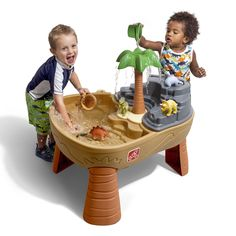 Dino Dig Sand & Water Table by provides mini explorers countless hours of backyard play table adventure. View and shop now. Childrens Play Table, Kids Play Table, Dinosaur Toys For Toddlers, Toddler Toys, Kids Toys, Outdoor Toys, Outdoor Play, Sand And Water Table, Water Table For Kids