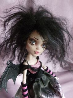 OOAK Monster High Repaint Little Gothic Angel Fairy Fantasy Art Doll BJD | eBay