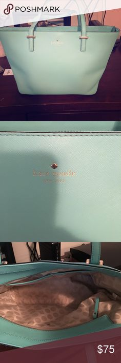Teal Kate Spade leather purse - great condition A leather teal Kate spade purse. Great condition kate spade Bags Shoulder Bags