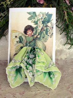 The May Fairy Keepsake Hanky Card by onceuponahanky on Etsy, $8.00