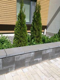 Paasikko muuri, roomalainen ladonta http://www.rudus.fi/tuotteet/pihakivet-ja-maisematuotteet/betonimuurikivet/100/paasikko