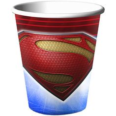Superman: Man of Steel 9 oz. cups to match your party theme. Cups are versatile enough to serve warm or cold beverages. This is an officially licensed DC Comics product. Superman Birthday Party, Birthday Party Themes, Boy Birthday, Party Supply Store, Party Stores, Best Superhero, Superhero Party, Coupons By Mail, Superman Man Of Steel