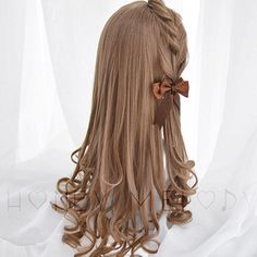 Kawaii Hairstyles, Pretty Hairstyles, Wig Hairstyles, Manga Hair, Anime Hair, Wedding Short Hair, Kawaii Wigs, Looks Kawaii, Lolita Hair