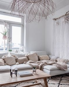 # Cozy Cozy Söderhamn Sofa by I . Ikea Living Room, Boho Living Room, Living Room Furniture, Ikea Sofas, Ikea Couch, Ikea Sectional, Söderhamn Sofa, European Home Decor, Beautiful Living Rooms