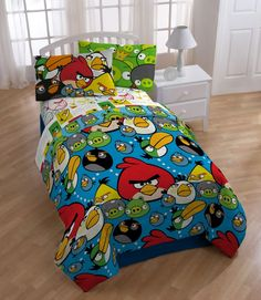Won't put down the game? Get them an Angry Birds comforter to climb under. Just bought for Aiden's room for the new house :) He wants an angry birds room!