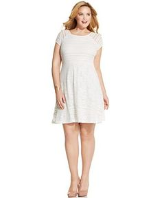 NY Collection Plus Size Lace A-Line Dress - Dresses - Plus Sizes - Macy's