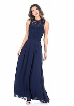 31cb0595d02f αέρινο maxi φόρεμα sweetheart δαντέλα σε μπλε navy Φορέματα Παράνυμφων