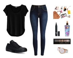 """""""Ohhh"""" by bb123456789 ❤ liked on Polyvore featuring Cosabella, Converse, Victoria's Secret and Forever 21"""