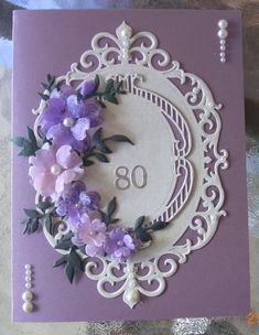 "Lovely card using Spellbinders die, Fleur de Elegance with Heartfelt Creations ""dogwood"" vellum flowers !"