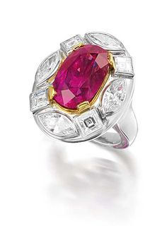 e408928dab78f Ruby and diamond Georgina ring by Marina B with a 10.54ct Burmese ruby  surrounded by