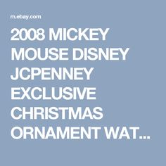Details about 2008 MICKEY MOUSE DISNEY JCPENNEY EXCLUSIVE ...